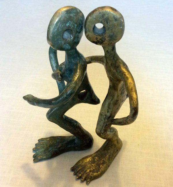 Les amants - Sculpture en bronze - 2012 - collection particulière