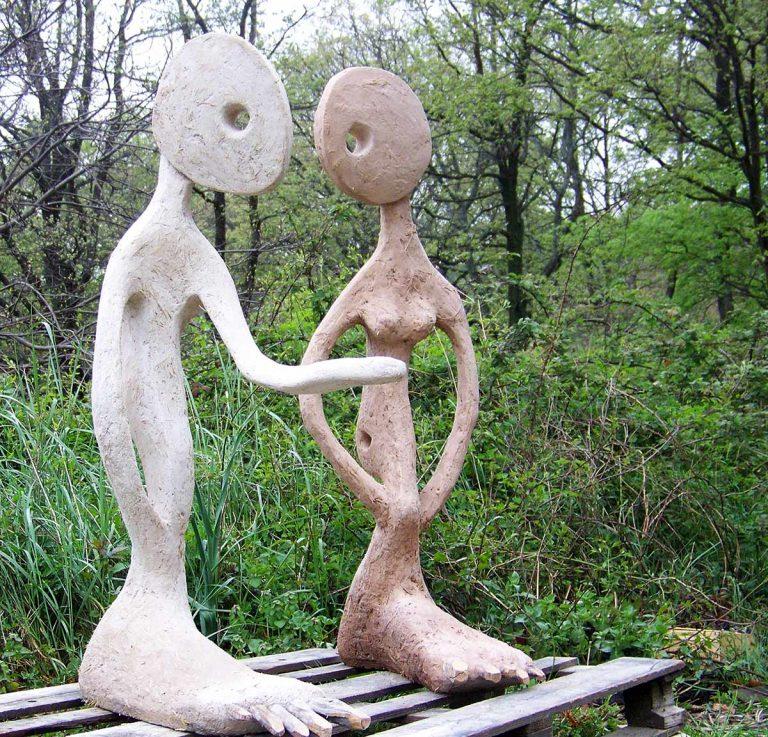 Pourquoi pas, sculpture en plâtre, terre réalisé en 2008